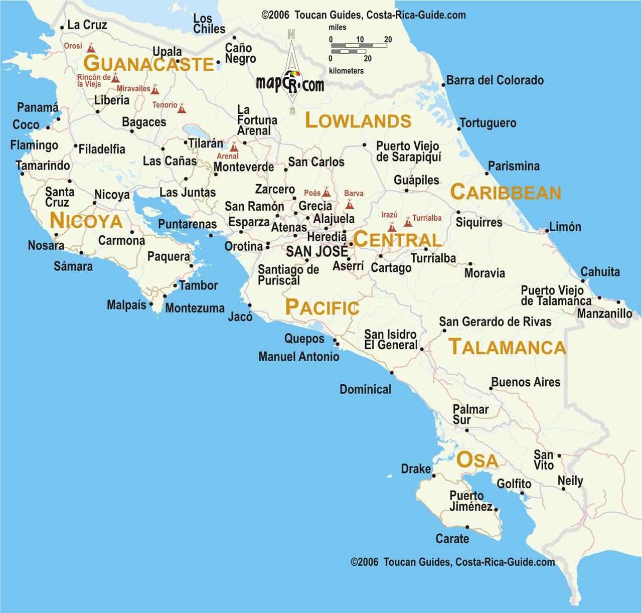 Mapas Viajes Por Costa Rica